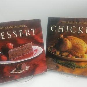 William Sonoma Chicken and Dessert cookbooks